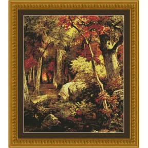 Набор для вышивания Kustom Krafts 97047 Октябрь фото
