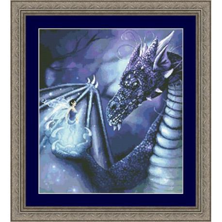 Набор для вышивания Kustom Krafts 20037 Фея и голубой дракон