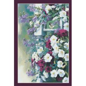 Набор для вышивания Kustom Krafts 98587 Винтажный сад фото
