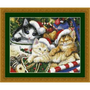 Набор для вышивания Kustom Krafts 98127 Мяу рождество фото