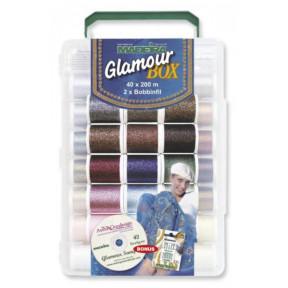 8060 Glamour 200м+диск CD (40xGlamour 200м, 2xBobbinfil 1500м)