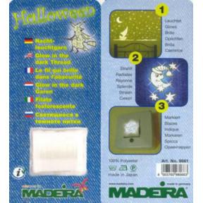 9661 Светящаяся в темноте нитка Madeira (1 катушка 100м)