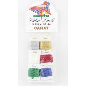 9703 Carat №40 6 карточек х 30 м блестящие нитки для вышивания (Value Packs)