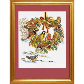 Wreath and birds Набор для вышивания Eva Rosenstand 12-986