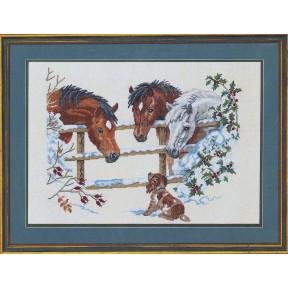 Horses & puppies Набор для вышивания Eva Rosenstand 12-741