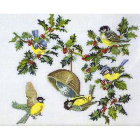 Birds & holly Набор для вышивания Eva Rosenstand 12-451