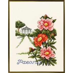 Pavilion and flowers Набор для вышивания Eva Rosenstand 12-301