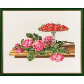 Roses and strawberries Набор для вышивания Eva Rosenstand 14-269