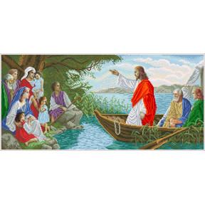 Набор Для Вышивания Бисером БС Солес Иисус в лодке ІЧ