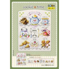 Время печенья Набор для вышивания крестом (AIDA 14) SODA Stitch SO-G17A