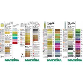 115 карта цветов Metallic для рукоделия №4,6,8,10,12,20,25 Spectra