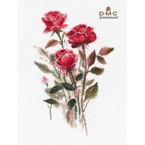 Розы Набор для вышивки крестом Овен 1392о