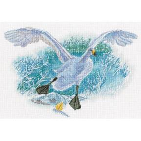 Белый гусь на белом снегу  Набор для вышивки крестиком RTO M854