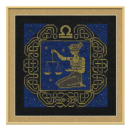 Набор для вышивания Риолис 1207 Знак зодиака Весы