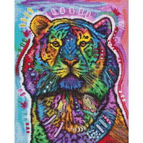 Любопытный тигр LETISTITCH Набор для вышивания крестом L 8003