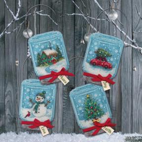 Christmas Jar Ornaments Набор для вышивания крестом Dimensions 70-08997