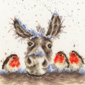 Рождественский осел Bothy Threads Набор для вышивания крестом XHD39