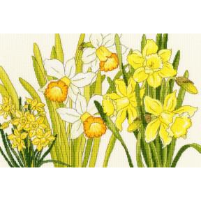 Нарцисс цветет Bothy Threads Набор для вышивания крестом XBD10