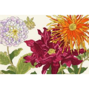 Георгин цветет Bothy Threads Набор для вышивания крестом XBD11