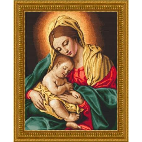Набор для вышивания Kustom Krafts 18047 Мадонна с младенцем фото