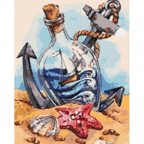 Морское настроение Картина по номерам Идейка холст на подрамнике 40x50см КНО2732