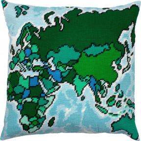 Карта (Евразия) Набор для вышивки подушки Чарівниця V-321