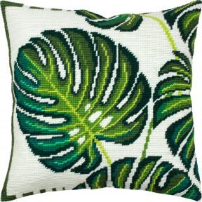 Листва в джунглях Набор для вышивки подушки Чарівниця V-324