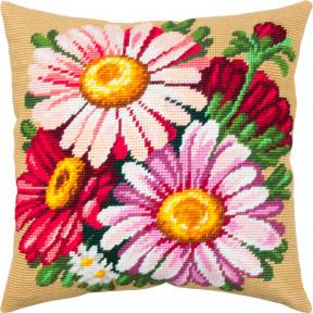 Астры Набор для вышивки подушки Чарівниця V-325