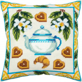 Печенье к чаю Набор для вышивки подушки Чарівниця V-327