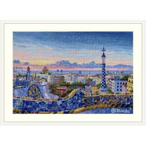 Барселона. Парк Гуэль Мережка Набор для вышивания крестом К-199