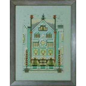 The Clockmaker's House / Дом часовщика Nora Corbett Схема для вышивания крестом NC284