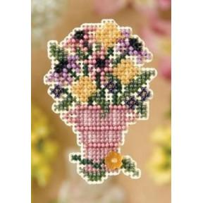 Срезанные цветы Mill Hill Набор для вышивания крестом MH188104