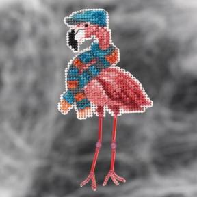 Осенний фламинго Mill Hill Набор для вышивания крестом MH182123