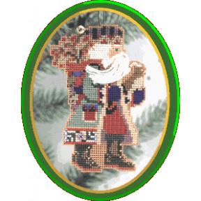 Санта с падубом Mill Hill Набор для вышивания крестом MHNS2