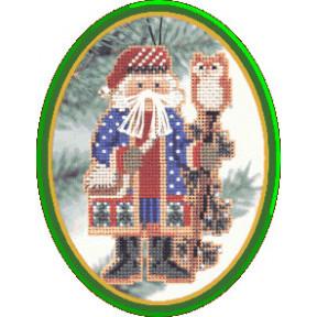 Санта с можжевельником Mill Hill Набор для вышивания крестом MHNS1