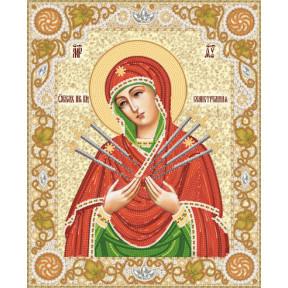 Образ Пресвятой Богородицы Семистрельная Рисунок на ткани Марічка   РИК-3-012