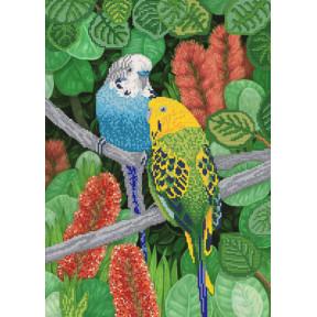 Волнистые попугайчики Рисунок на ткани Марічка РКП-2-013