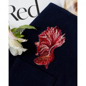 Красное золото-1 Абрис Арт Набор для вышивания крестиком на водорастворимой канве АНО-013