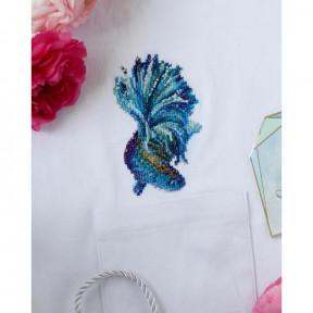 Синее золото-1 Абрис Арт Набор для вышивания крестиком на водорастворимой канве АНО-012