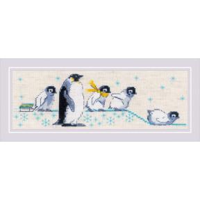 Пингвинчики Набор для вышивания крестом Риолис 1975