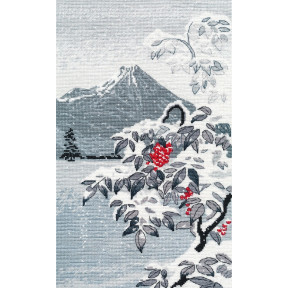 Зимний пейзаж с рябиной Овен Набор для вышивки крестом 1398о