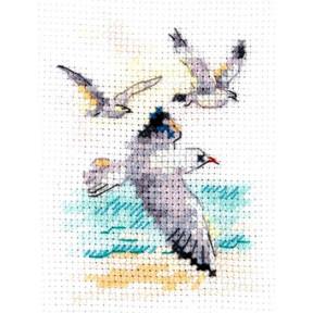 Ветер с моря. Чайки Набор для вышивки крестом Алиса  0-221