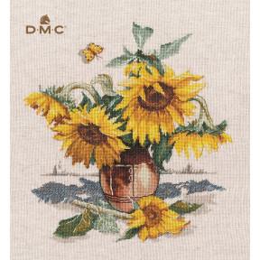 Солнечные цветы Набор для вышивки крестом Овен 1400о