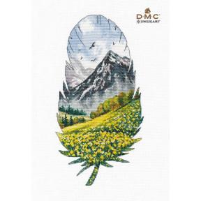 Горный пейзаж-1 Набор для вышивки крестом Овен 1401о