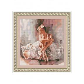 """Набор для вышивки  крестом Dantel 147 """"Балерина и орхидеи"""""""