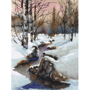 Зима Набор для вышивки гобеленом Luca-S G609