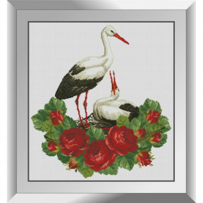 Набор алмазной живописи Dream Art Аисты в розах 31602D