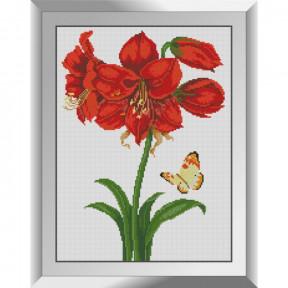 Набор алмазной живописи Dream Art Бабочка у лилии 31615D