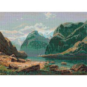Озеро в горах Швейцарии Набор для вышивки крестом Panna GTG-7097
