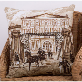 Старый Петербург (Подушка) Набор для вышивки крестом Panna ПД-1890